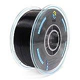YOUSU Tangle Free 3D Printer Filament Black PLA Filament 1.75 mm for 3D Printer & 3D Pen 1 kg (2.2 lbs)