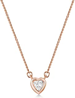 Mestige Rose Gold Amour Necklace with Swarovski Crystals