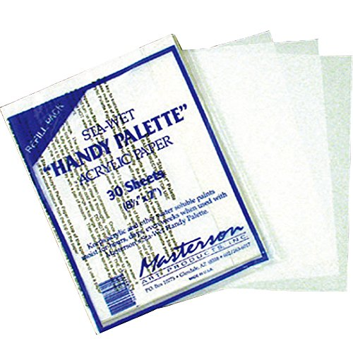 Masterson Sta-Wet Handy Palette pack of 30 handy palette acrylic paper 8 1/2 in. x 7 in. (japan import)