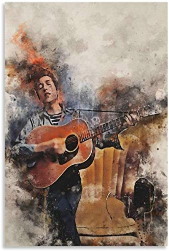 Iooie Canvas Wall Art Print Bob Dylan Famous Guitarist for Room Decoration Painting Walls Artwork Posters Prints 15.7'x23.6'(40x60cm) NO FRAME