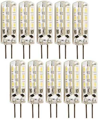 10er PACK - LED Micro G4 12V Stiftsockel - 1,5W 120lm - Silikon-Schutzmantel - Ø10x36mm - tagesweiß (4000 K)