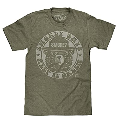 Tee Luv Smokey Keep It Green Licensed T-shirt-medium Forest Green Heather