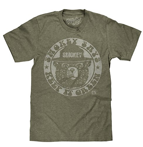 Tee Luv Smokey Keep It Green Licensed T-shirt-medium Forest Green Heather