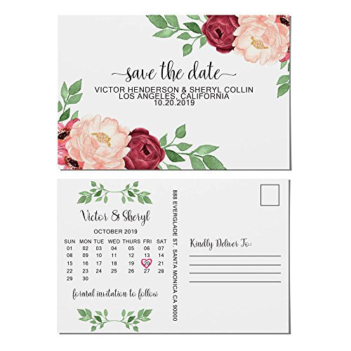 """Rose Garden"" Save the Date Postcards for Weddings by LoveAtEverySight 