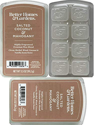 Better Homes and Gardens - Salted Coconut and Mahogany 3.5oz Scented Wax Cubes...