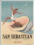 Vintage Retro Blechschild San Sebastian Spanien Reise