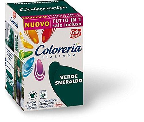 Grey Coloreria Italiana VERDE SMERALDO tutto in 1 con sale Incluso 350 gr