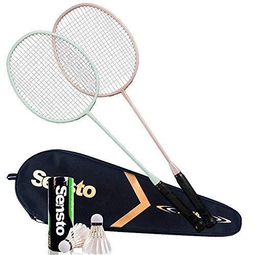Xiaoyue 100{609026e788584a2e04d3920767a187ffa0924dabb4250753ddf4cd609944cc16} Vollcarbonfaser-Hochspannungs Schnur Badmintonschläger, Profi-Wettbewerb Design Welle Badmintonschläger, Leicht Graphite Einzelbadmintonschläger Badmintontasche. lalay (Color : 7)