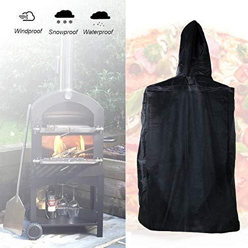 xlcukx Pizzaofen im Freien Raucherabdeckung Holz Pizzeria für Grill gebrannte Pizzaofenabdeckung - Wetterbeständig Hochleistungs wasserdicht - Abdeckung für im Freien 160x37x50cm excellently
