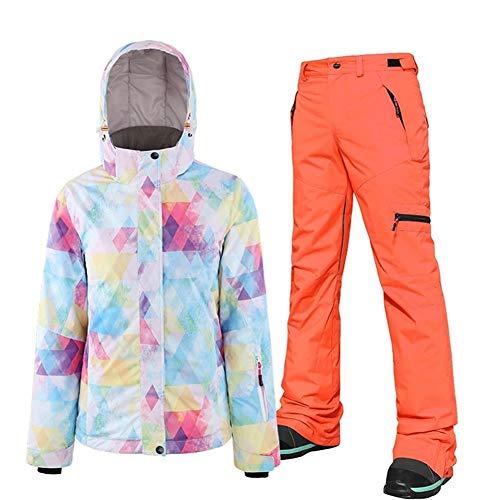 DRT Vrouwen skipak Veneer dubbel snowboard-jack en broek pak buitenshuis winddoorlatend waterdicht warm bergbeklimmen 2 in 1 pak super warm
