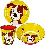 Spiegelburg Freche Rasselbande 3er Set Hund 13223 13228 14008 Melamin-Becher + Melamin-Teller +...