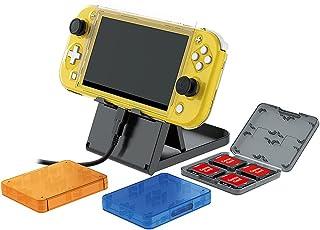 Kit de acessórios de switch 11 em 1 para Nintendo Switch Lite, com caixa protetora, vidro protetor de tela, porta-cartões ...