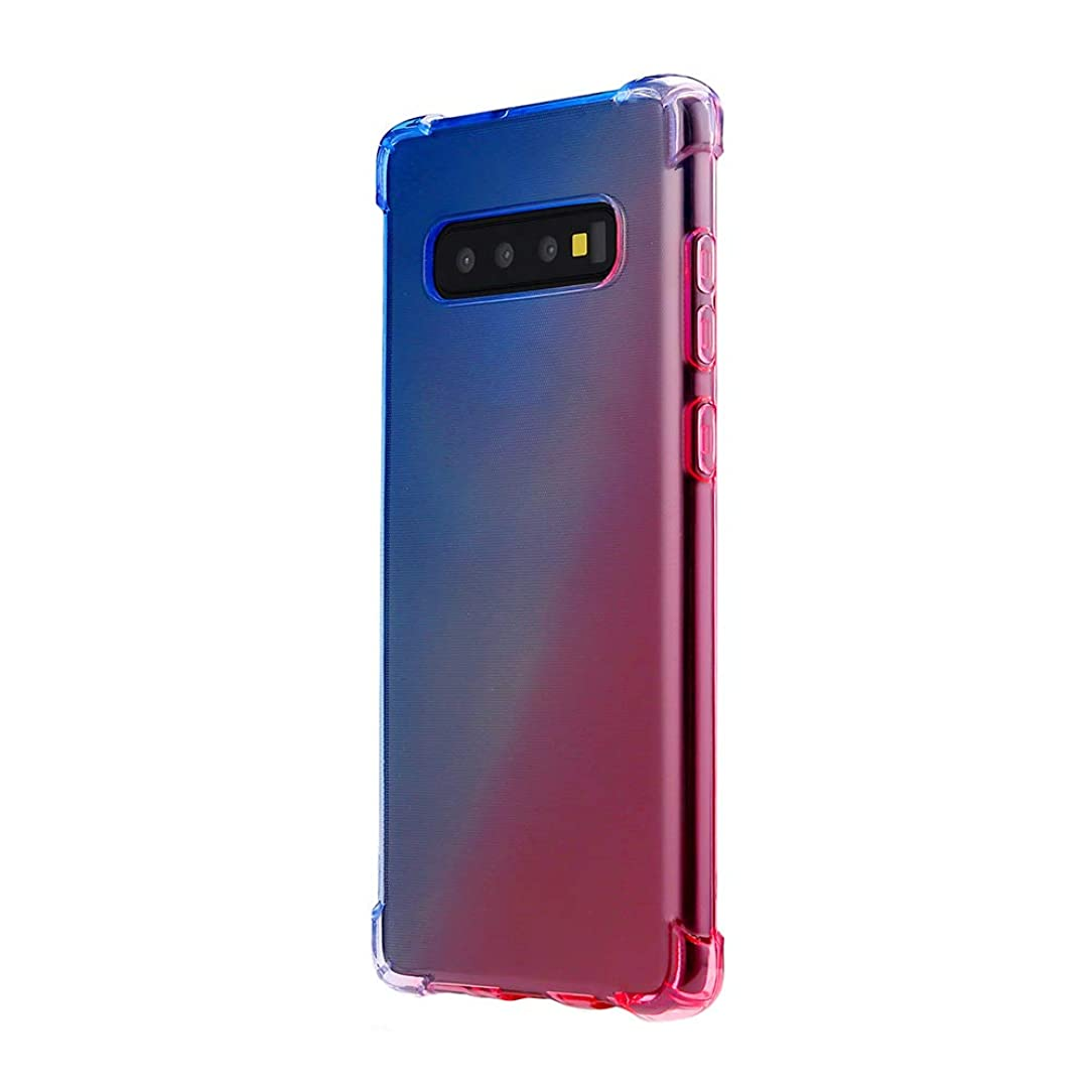 Compatible with Samsung Galaxy S10 Plus Case, Galaxy S10 Cover Soft TPU Color Gradient Anti-Collision Protective S10e Shell