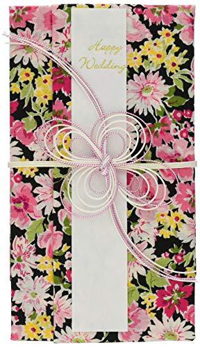 ハンカチで出来た御祝儀袋「心込袋」 POP FLOWER クロ