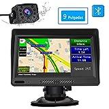 AWESAFE Navegador GPS para Camiones y Coches con Bluetooth y Cámara Trasera de 9...