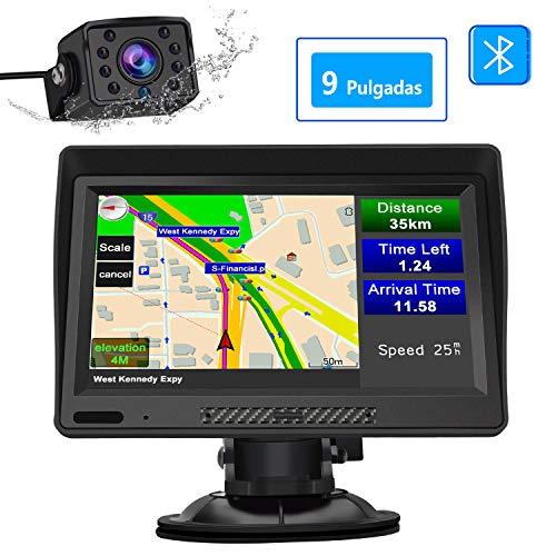 ROM 8GB GPS Mapa de 51 pa/íses GPS de Coches Navegador de cami/ón y Coche con actualizaciones de mapas de por Vida Navigation Pantalla LCD capacitiva t/áctil de 7 GPS de Coche RAM 256M