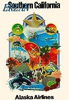 ERZANメタルポスター壁画ショップ看板ショップ看板南カリフォルニアハリウッドヴィンテージアメリカ合衆国旅行広告インテリア 看板20x30cm