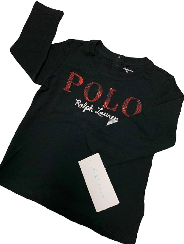 Polo Ralph Lauren Black Boys Embroidered Logo, US 9M