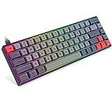 Betolye 65 Percent Laptop Keyboard, 68Keys RGB LED Illuminated Backlit PBT GSA Keycaps Hot-swap Gateron Optical Blue Switch Programmable USB Wired Keyboard for Win/Mac/Gaming Console