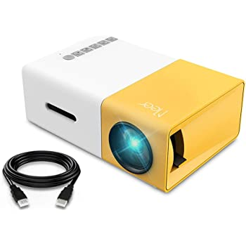 Mini Projector, Meer Portable Pico Full Color LED LCD Video Projector for Children Present, Video TV Movie, Party Game, Outdoor Entertainment with HDMI USB AV Interfaces and Remote Control