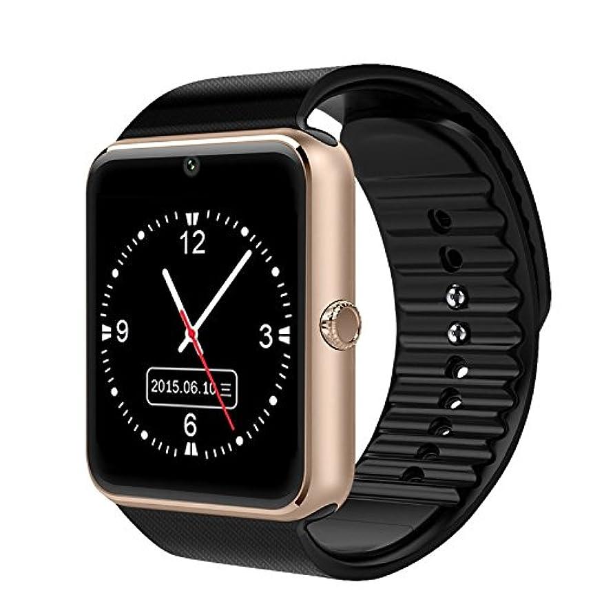 新鮮な独立性能IWO GT08 スマートウォッチ スマート ウォッチ ブルートゥース搭載 多機能腕時計 スマートデジタル腕時計 スマート ウォッチ ウォッチ 健康 タッチパネル 着信お知らせ/置き忘れ防止/歩数計/高度計/アラーム時計 (金)