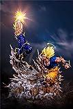 Dragon Ball Figuras De Anime Super Saiyan II Goku Vs Majin Vegeta Figuras De Acción Estatua Figurilla Modelo Muñeca para Regalo De Fans PVC - 21,7 Pulgadas