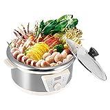 N\C 4L Multifuncional Caliente, Eletric Hot Multi Cooker Eléctrico Hot ABS Chafing Dish Hogar Cocina Suministros de Cocina para el hogar, 30.5 x 19cm / 12 x 7.5in