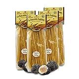 Brezzo Tagliolini con Trufa | Pasta Italiana al Huevo | Pack de 4 x 250 Gramos