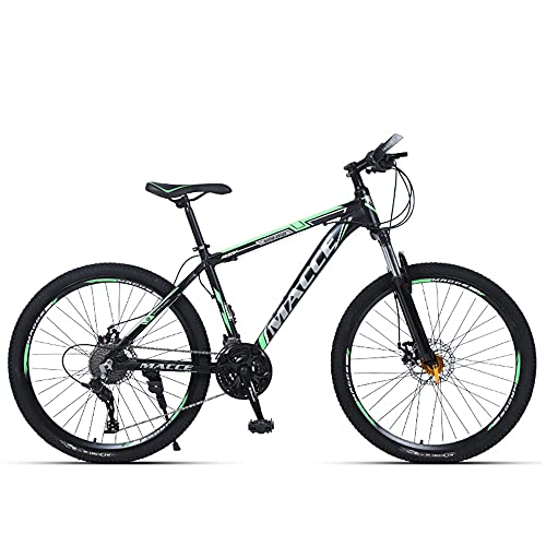 Mountain Bikes, Aluminum Alloy Frame Bikes, 30 Speed 24 Inches Spoke Wheels Gearshift, Front and Rear Disc Brakes Bicycle, for Adults