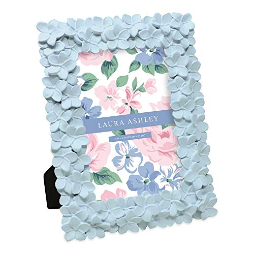 Laura Ashley - Marco de fotos (resina), diseño de flores