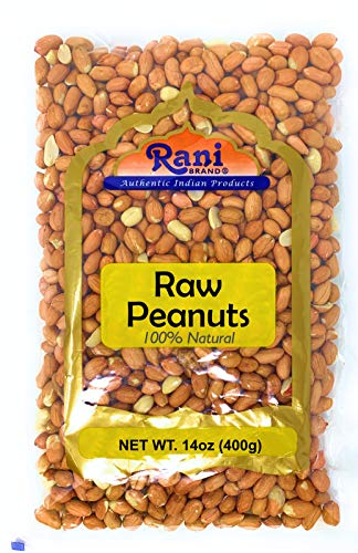 Peanuts, Raw Whole With Skin (uncooked, unsalted) 14oz (400g)
