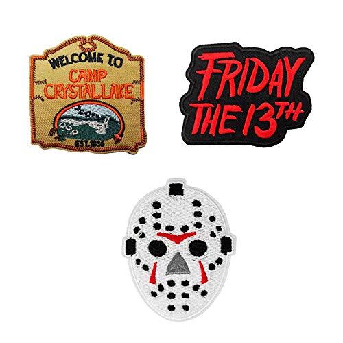 Hockey-Torwart Maske Friday The 13th bestickter Aufnäher zum Aufbügeln und Aufnähen, Horror-Film-Geschenke