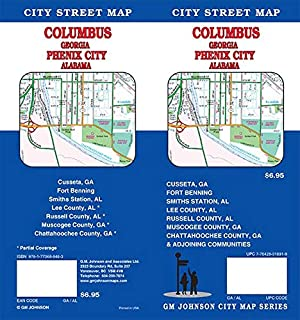 Columbus Georgia & Phenix City Alabama Street Map