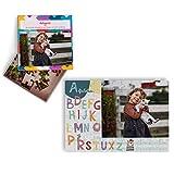 Fotoprix Puzzle Educativo Personalizado con la Foto del niño o de la niña | 5 Modelos Diferentes para coleccionar | Puzzle Infantil de 40 Piezas Grandes | Abecedario (Euskera)