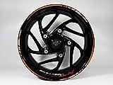 Felgenrandaufkleber Set 710028 Orange-Black Racing Bike Car Design