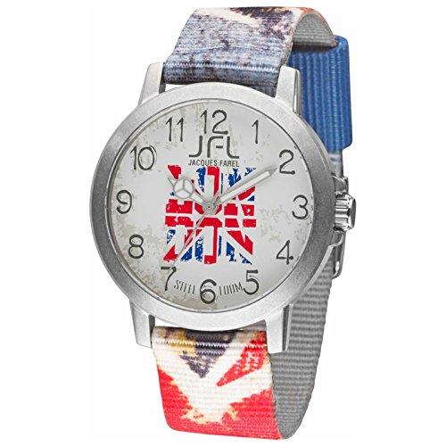 Orologio JFL di Jaques Farel stile hipster con bandiera UK flag CRS 010