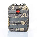 Lovevv 600D Waterproof First Aid Kit Tactical Survival Kit Molle Rip-Away EMT Pouch Bag,ACU -