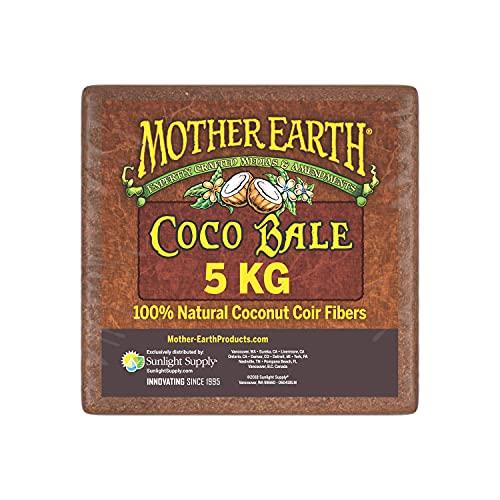 MOTHER EARTH Coco Bale 5 kg, 100% Coconut Coir Fibers