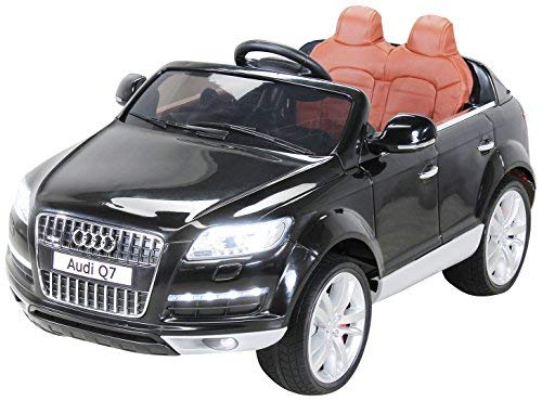 Actionbikes Motors Kinder Elektroauto Audi Q7 4L - Lizenziert - 2 x 45 Watt Motor - 2,4 Ghz Rc Fernbedienung - USB - Mp3 - Elektro Auto für Kinder ab 3 Jahre (Schwarz)