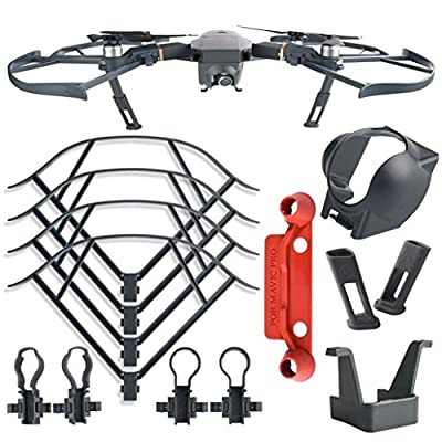 Accessories Kit For DJI Mavic Pro ,Diadia Quick Release Propellers Guards Extend Landing Legs Gear Kit Protection Lens Hood for DJI MAVIC PRO