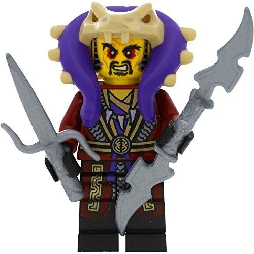 LEGO Ninjago Minifigur: Meister Chen / Master Chen mit Schwertern (Wettkampf der Elemente)