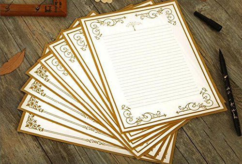 IMagicoo 64 Vintage Retro Cute Design Writing Stationery Paper Letter Set (White)