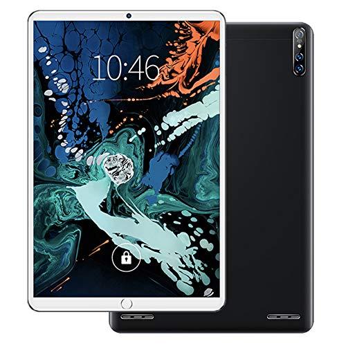 ELLENS Tableta 10.1 Pulgadas Android 6.0, Pantalla IPS HD, cámara y Ranuras para Tarjetas SIM Dobles, Bluetooth, WiFi, GPS, para Entretenimiento portátil (Negro)
