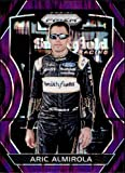 2018 Panini Prizm Purple Flash Prizm #42 Aric Almirola Smithfield Foods/Stewart-Haas Racing/Ford NASCAR Racing Trading Card