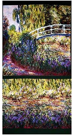 Robert Kaufman 0531264 Claude Monet Digital Prints Garden 24 Panel Garden Quilt Fabric Multi product image