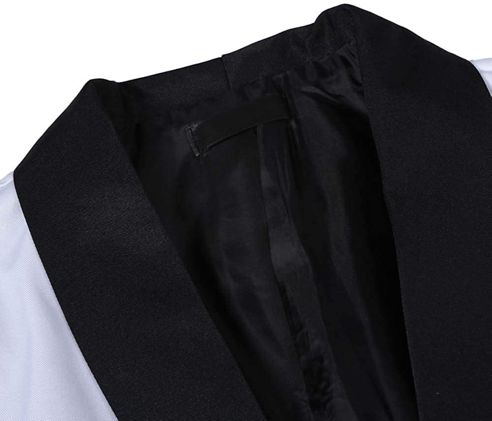 MODOQO Men's Tuxedo Jacket Casual Slim Fit Suit Blazer for Dinner Party Wedding Prom Blazer