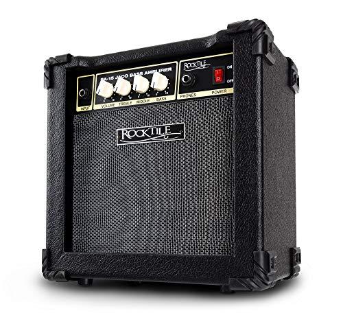 """Rocktile BA-15 Jaco Basscombo (Bassverstärker im Combo-Format mit 15 Watt Leistung, für aktive und passive Bässe, 6,5\"""" Lautsprecher) schwarz"""