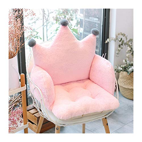 Without Cushion Office sedentary Cushion one Chair Cushion Butt pad Padded Stool Student Dormitory Cute ins Girl (Color : Pink, Specification : 60x42x42cm)