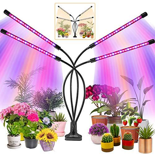 KEAWEO Pflanzenlampe Led, Pflanzenlicht, Pflanzenleuchte 40W 80 Leds, Wachstumslampe Vollspektrum Wachstumslampe für Zimmerpflanzen mit Zeitschaltuhr, 3 Arten von Modus, 10 Helligkeitsstufen