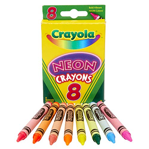 Crayola Neon Crayons, Coloring Book Supplies, Gift for Kids, 8 Count
